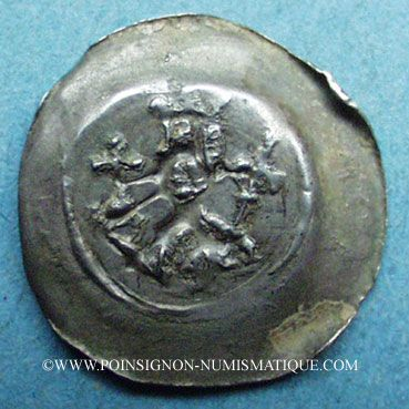 Coins Alsace. Evêché de Strasbourg. Epoque des Hohenstaufen (1138-1284). Denier Offenbourg vers 1247-73