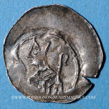 Coins Alsace. Evêché de Strasbourg. Epoque des Hohenstaufen (1138-1284). Denier vers 1190-1220