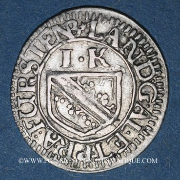 Coins Alsace. Evêché de Strasbourg. François Egon de Fürstenberg (1662-1682). 1 kreuzer n. d.