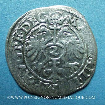 Coins Alsace. Evêché de Strasbourg. Jean de Manderscheid (1569-1592). 2 kreuzers 1576. Molsheim