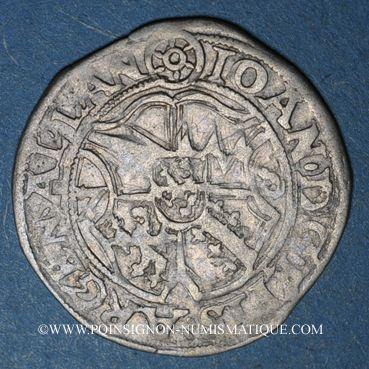 Coins Alsace. Evêché de Strasbourg. Jean de Manderscheid (1569-1592). 2 kreuzers 1578. Molsheim