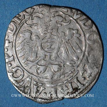 Coins Alsace. Evêché de Strasbourg. Jean de Manderscheid (1569-1592). 2 kreuzers 1591. Molsheim ou Saverne