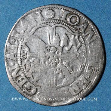 Coins Alsace. Evêché de Strasbourg. Jean de Manderscheid (1569-1592). 3 kreuzers 1580. Molsheim