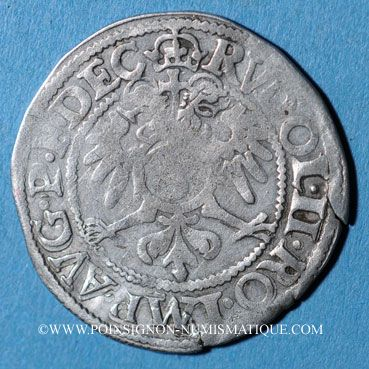 Coins Alsace. Evêché de Strasbourg. Jean de Manderscheid (1569-1592). 3 kreuzers 1581. Molsheim