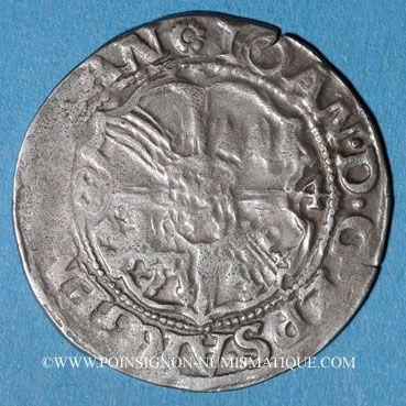 Coins Alsace. Evêché de Strasbourg. Jean de Manderscheid (1569-1592). 3 kreuzers 1584. Molsheim