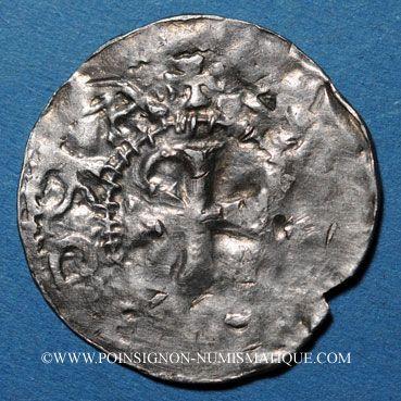 Coins Alsace. Evêché de Strasbourg. Otton III, empereur (996-1002). Denier