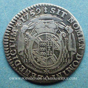 Coins Alsace. Evêché Strasbourg. Louis Constantin de Rohan-Guéménée (1756-79). 1/12 taler 1759. Oberkirch