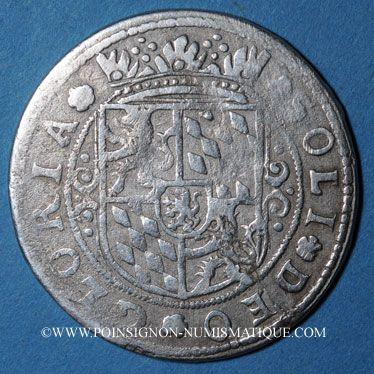 Coins Alsace. Monnayage des Comtes Palatins. Georges Gustave (1592-1634) Teston n.d. Rothau