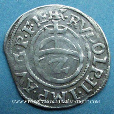 Coins Alsace. Monnayage des Comtes Palatins. Georges Jean (1544-1592). 2 kreuzer 1580. Phalsbourg