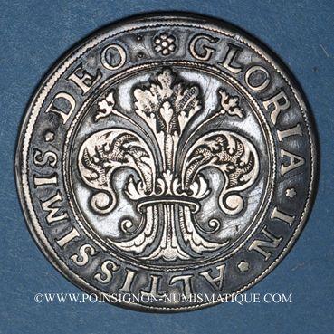 Coins Alsace. Strasbourg (17e siècle). 1/2 taler aux lions