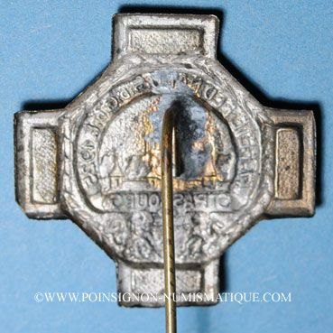 Coins Alsace. Strasbourg. 47e fête fédérale de l'Union des Sociétés de Gymnastique de France 1925. Insigne