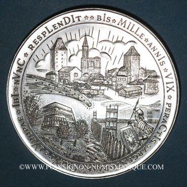 Coins Alsace. Strasbourg. Bimillénaire. 1988. Médaille. argent. 60 mm