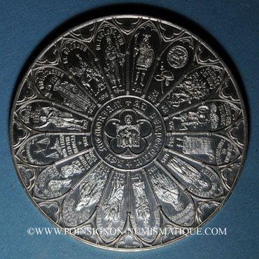 Coins Alsace. Strasbourg. Bimillénaire. 1988. Médaille argent. Exemplaire numéroté. 60 mm