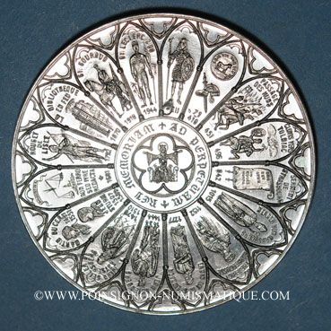 Coins Alsace. Strasbourg. Bimillénaire. 1988. Médaille étain. 60 mm
