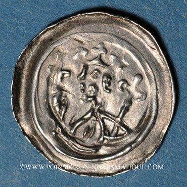 Coins Alsace. Strasbourg. Evêché. Epoque des Hohenstaufen (1138-1284). Denier. Strasbourg vers 1250-1270