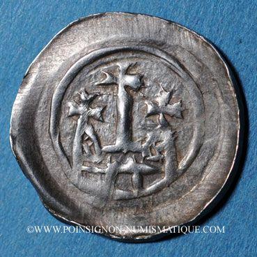 Coins Alsace. Strasbourg. Evêché. Epoque des Hohenstaufen (1138-1284). Denier vers 1230-1250