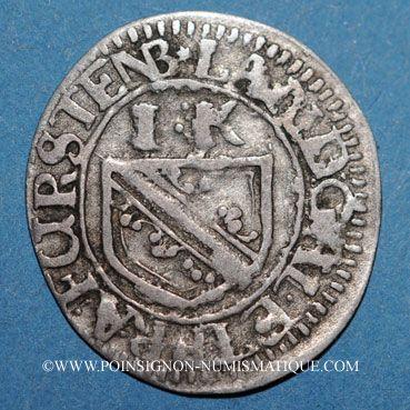 Coins Alsace. Strasbourg. Evêché. François Egon de Fürstenberg (1662-1682). 1 kreuzer R ! R !