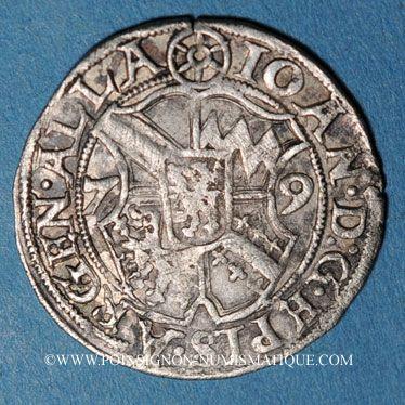 Coins Alsace. Strasbourg. Evêché. Jean de Manderscheid (1569-1592). 2 kreuzers 1579 Molsheim