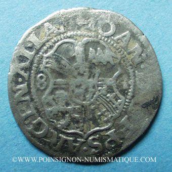 Coins Alsace. Strasbourg. Evêché. Jean de Manderscheid (1569-1592). 3 kreuzers 1584. Molsheim