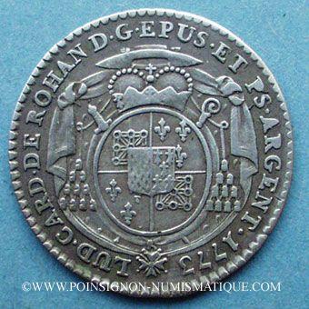 Coins Alsace. Strasbourg. Evêché. Louis Constantin de Rohan-Guéménée (1756-79). 5 kreuzers 1773G Günzbourg