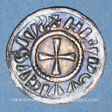 Coins Alsace. Strasbourg - Evêché. Louis l'Enfant (899-911). Denier