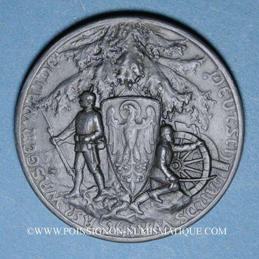 Coins Alsace. Surveillance du territoire allemand à la frontière des Vosges 1914-1917. Médaille zinc