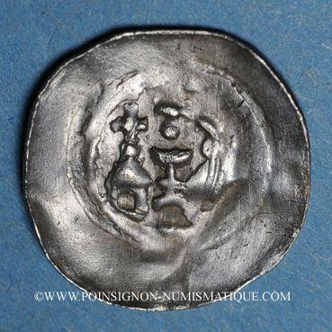 Coins Alsace. Wissembourg. Abbaye (1ère moitié du 14e). Pfennig