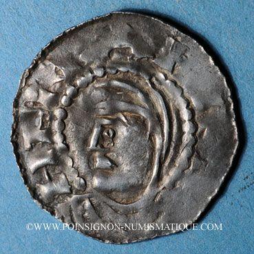 Coins Evêché de Strasbourg.Guillaume I ou Hézilo, évèques (1028-1056). Denier à la Vierge et à l'édifice