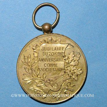 Coins Strasbourg. Fédération des Sociétés Catholiques de Chant et de musique. Médaille bronze doré