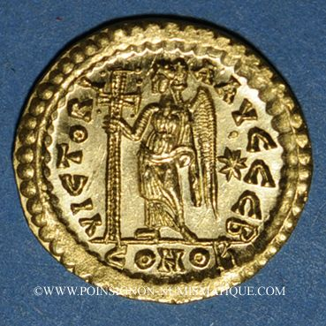 Coins Empire romain d'orient. Léon I (457-474). Solidus. Constantinople, 2e officine, 457-468