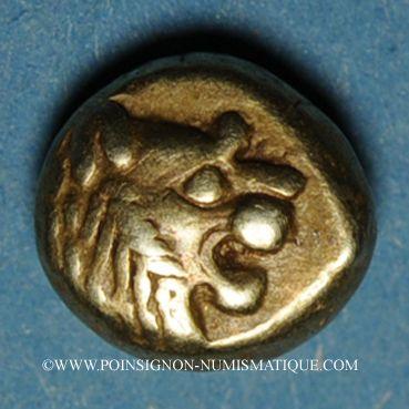 Coins Royaume de Lydie. Epoque de Alyattes II à Kroisos (610-546 av. J-C). Hemihecté d'electrum