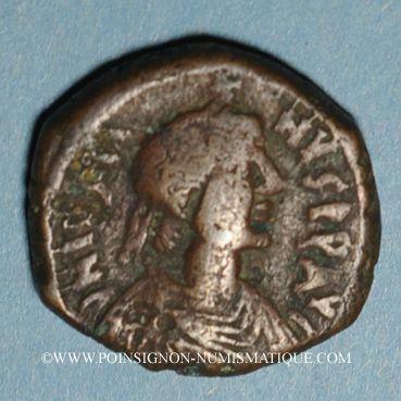 Coins Empire byzantin. Justin I (518-527). Follis. Nicomédie, 1ère officine, 518-527