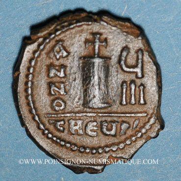Coins Empire byzantin. Maurice Tibère (582-602). Décanoummion. Théoupolis (Antioche), 589-590