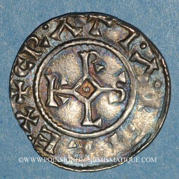 Coins Charles le Chauve (840-877). Denier. Meaux