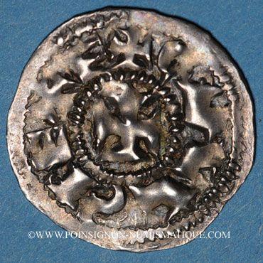 Coins Charles le Chauve (840-877). Denier. Melle