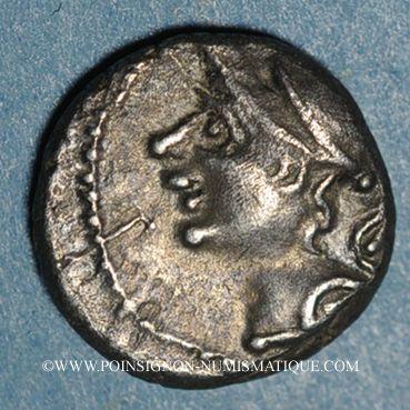 Coins Allobroges. Région du Dauphiné. Denier, à l'hippocampe, 1er s. av. J-C