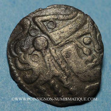 Coins Ambiani. Région d'Amiens. Denier lamellaire à l'hippocampe, vers 60 - 30/25 av. J-C. DT 191 !