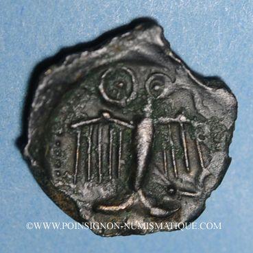 Coins Carnutes. Région de Chartres. Potin au profil géométrique, 1er s. av J-C. DT 2581 cet exemplaire !