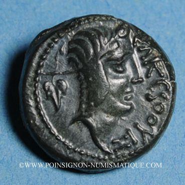 Coins Carnutes. Région de Chartres. Tasgétios, roi (57-54 av. J-C). Bronze au cheval ailé