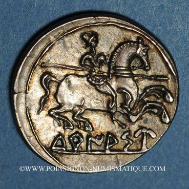 Coins Celtibérie. Turiaso. Denier, vers 120-80 av. J-C