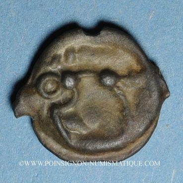 Coins Sénones (région de Sens) (1er siècle av. J-C). Potin