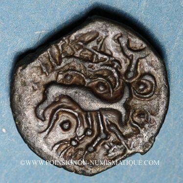 Coins Sénones (région de Sens) - Yllucci (2e moitié du 1er siècle av. J-C). Bronze. Inédit !