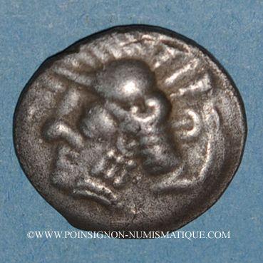 Coins Sud-ouest de la Gaule. Drachme imitée du monnayage de Rhodé. 3e s. av. J-C
