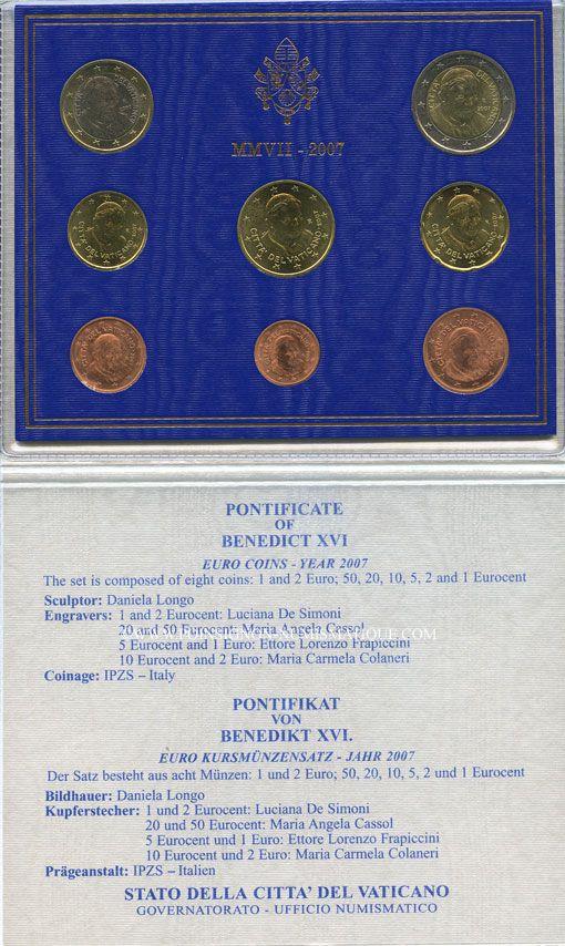 Coins Europe Vatican Benoît Xvi 19 Avril 2005 28 Février 2013