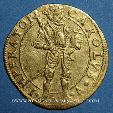 Coins Franche-Comté. Besançon. Ducat 1644/3. R ! R !