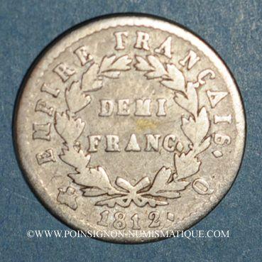 Coins 1er empire (1804-1814). 1/2 franc EMPIRE 1812Q Perpignan