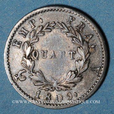 Coins 1er empire (1804-1814). 1/4 franc EMPIRE 1809A