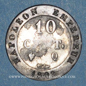Coins 1er empire (1804-1814). 10 cmes 1809Q. Perpignan