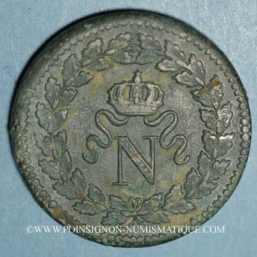 Coins 1er empire (1804-1814). 1er blocus de Strasbourg 1814. 1 décime 1814BB. Sans points