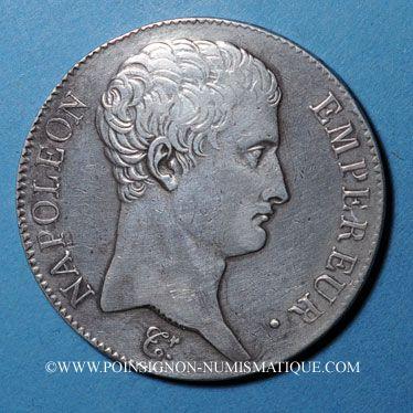 Coins 1er empire (1804-1814). 5 francs, date grégorienne, 1806 A